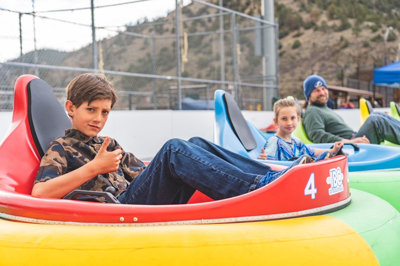 Image of the Frozen Fire Rink bumper cars in Idaho Springs, CO