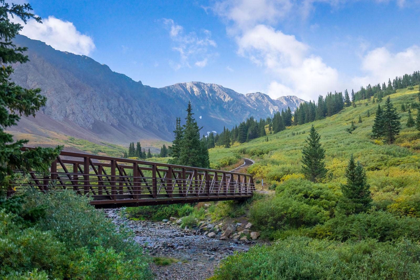 Jembatan Jalur Lintas Alam Grays Peak Colorado