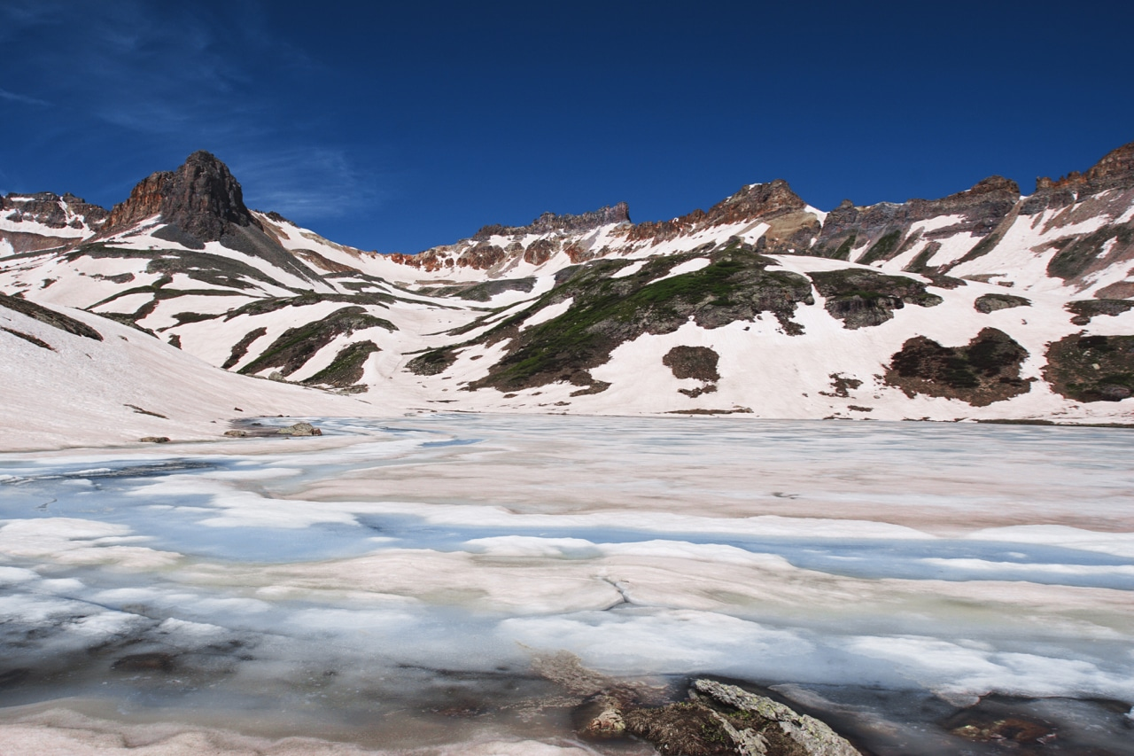 Ice Lake Silverton Colorado Frozen in June