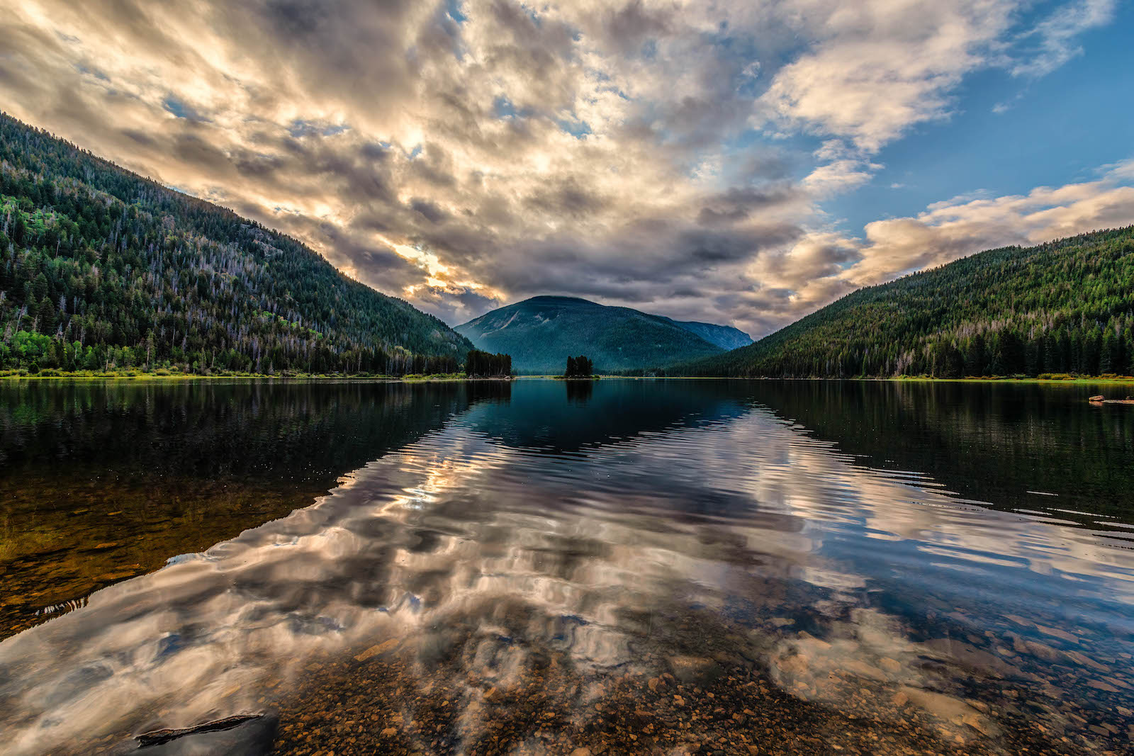 Reflections on Monarch Lake Colorado
