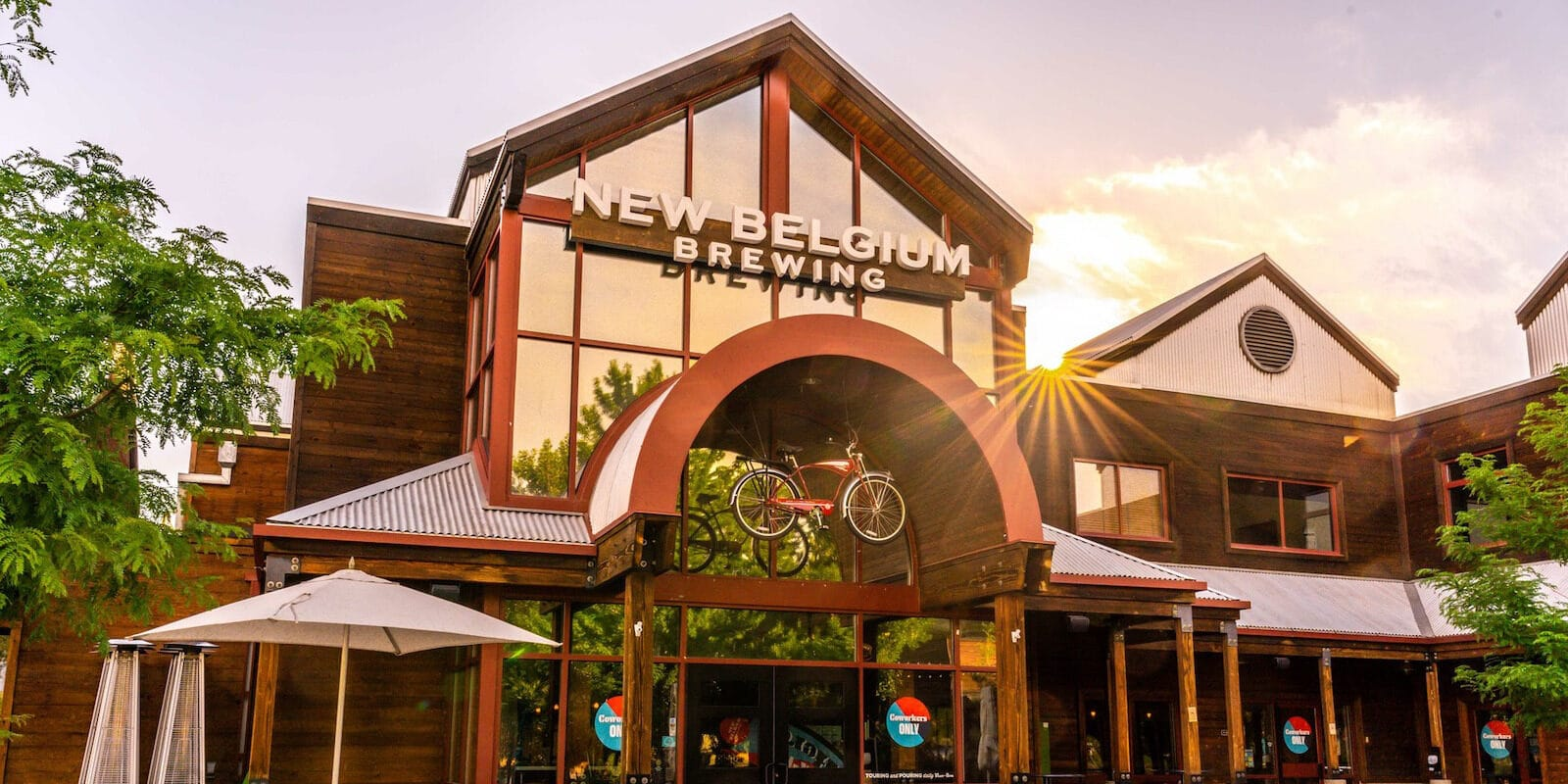 Image of the entrance to New Belgium Brewery