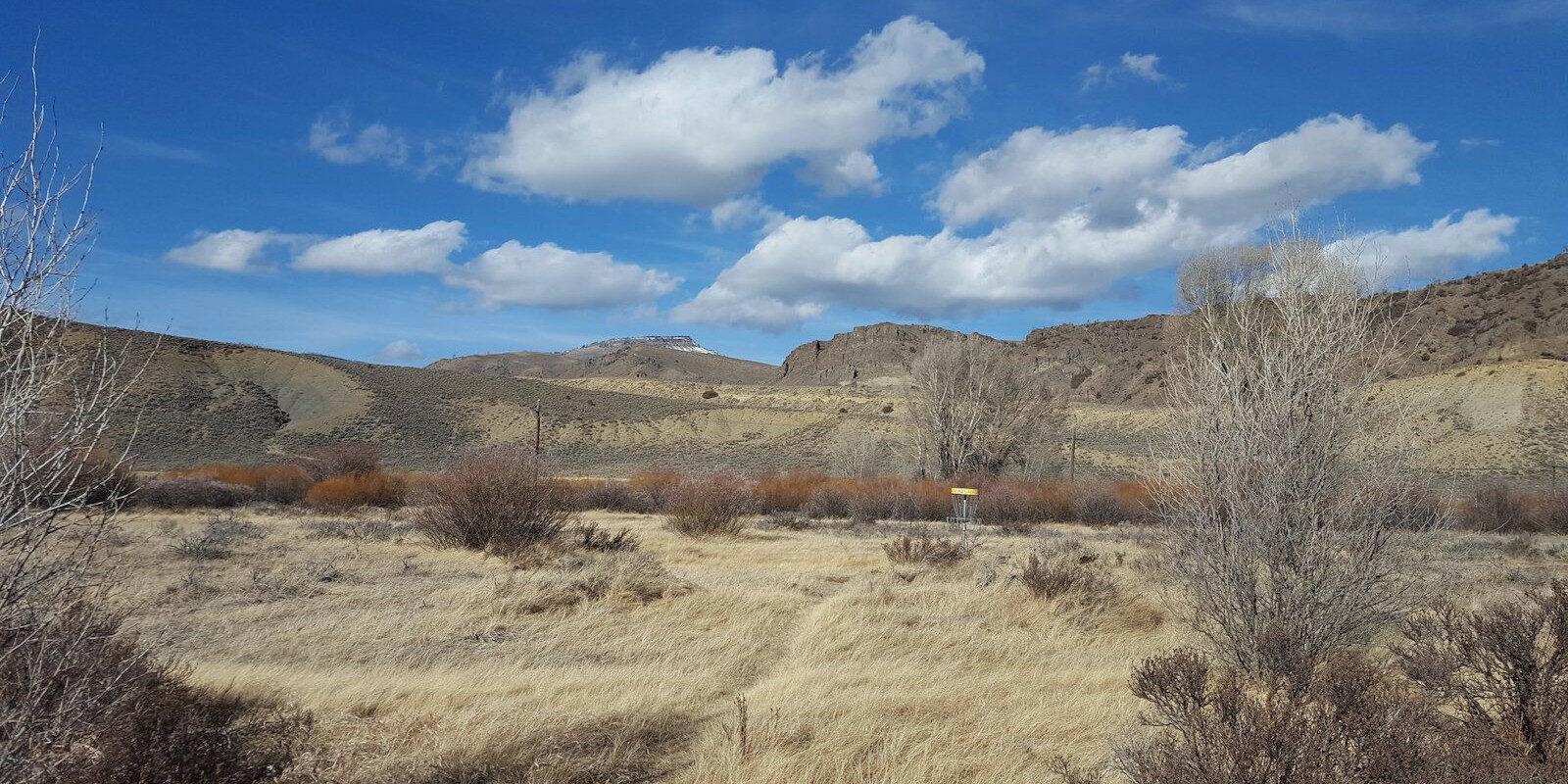 Image of the Pioneer Park disc golf area in Hot Sulphur Springs, Colorado