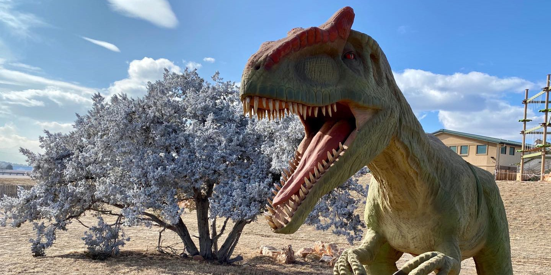 Image of a dinosaur at Royal Gorge Dinosaur Experience in Canon City, Colorado