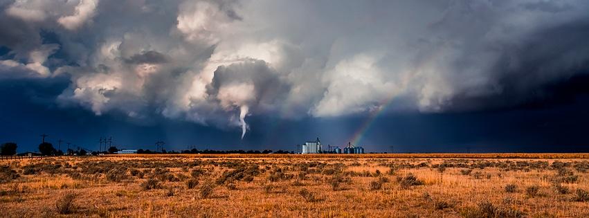 Tornado touched down in Roggen, Colorado