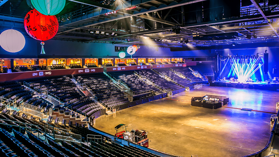 Image of the interior of the 1STBank Center in Bloomfield, Colorado