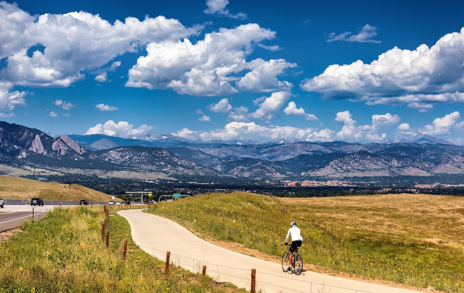 Biking to Boulder, Colorado