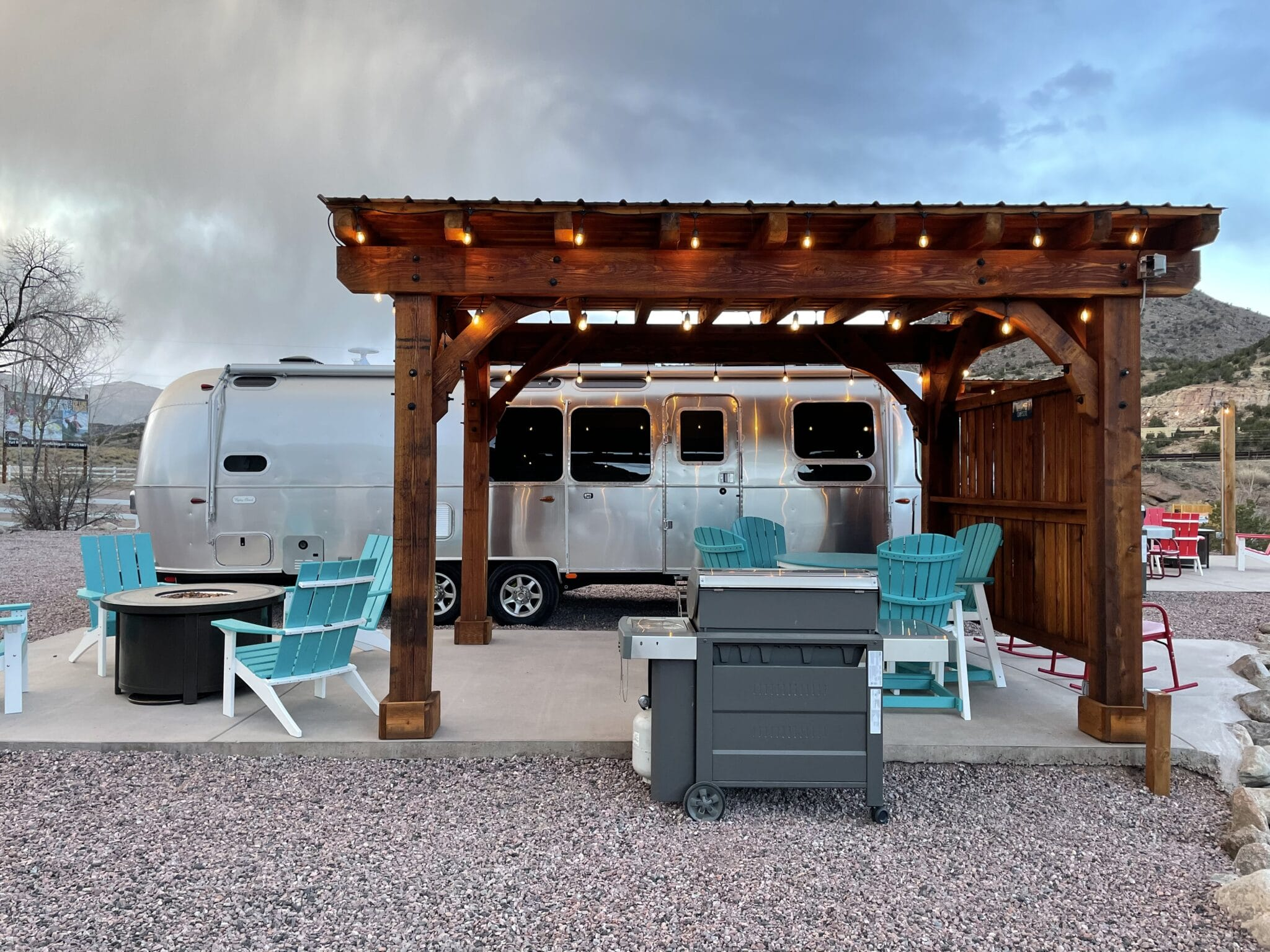 image of airstream glamping in the royal gorge region
