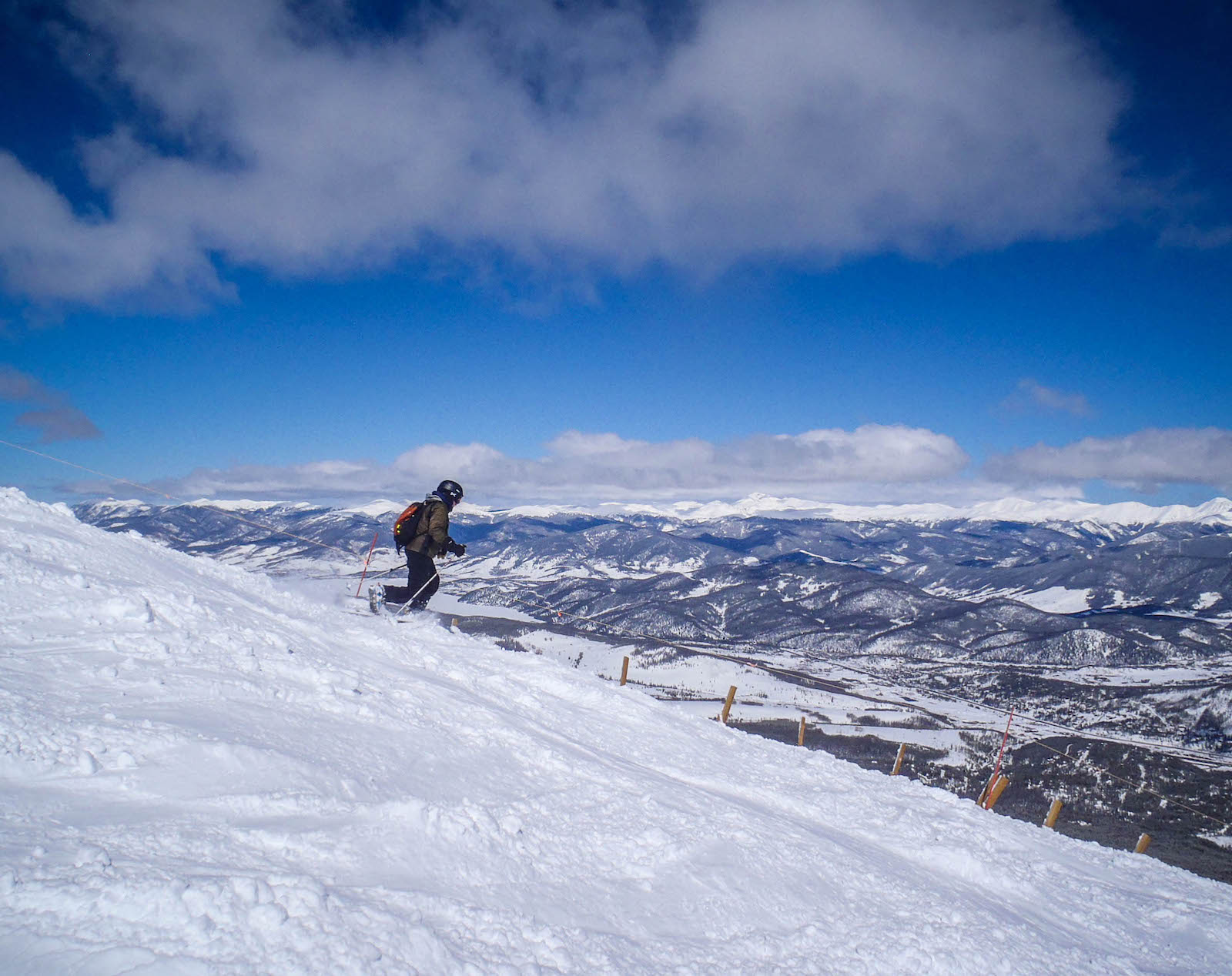 Bermain ski di Breckenridge, CO