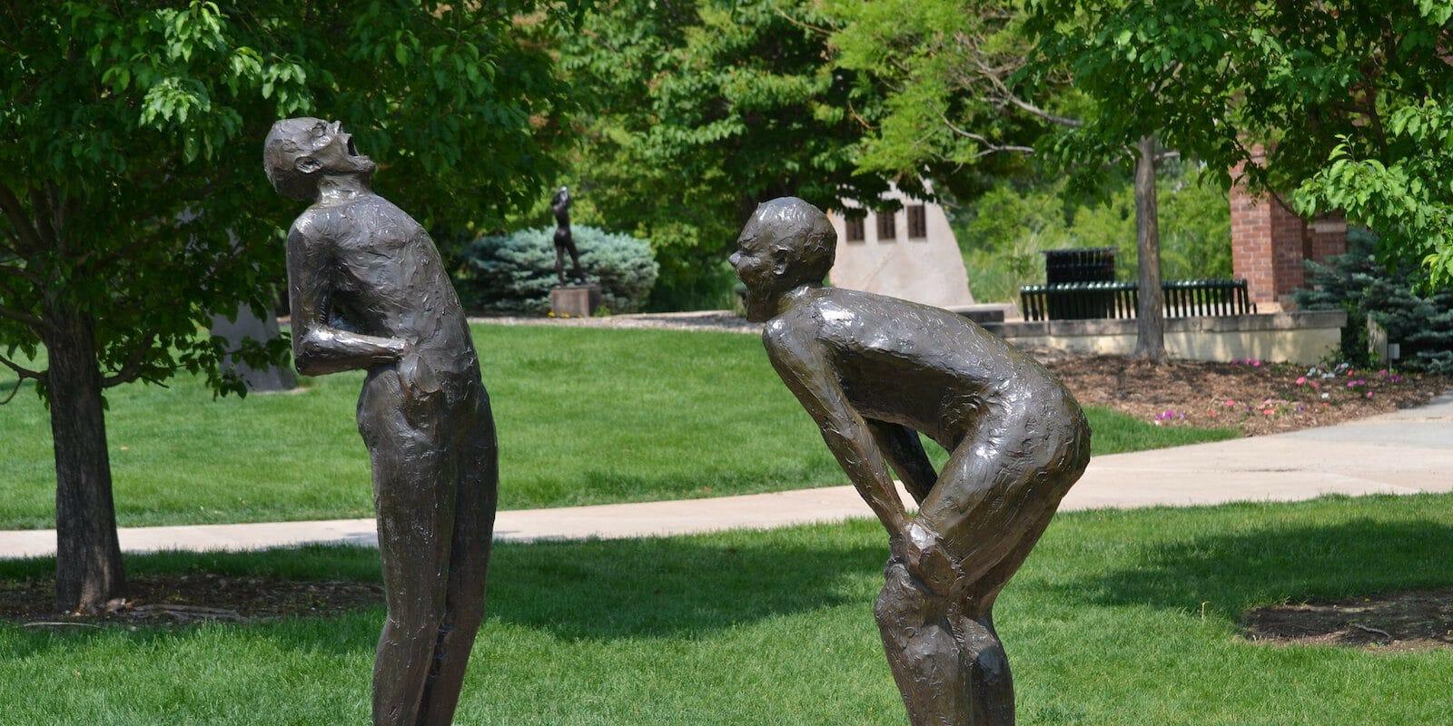 Image of a sculpture in Benson Sculpture Garden in Loveland, Colorado