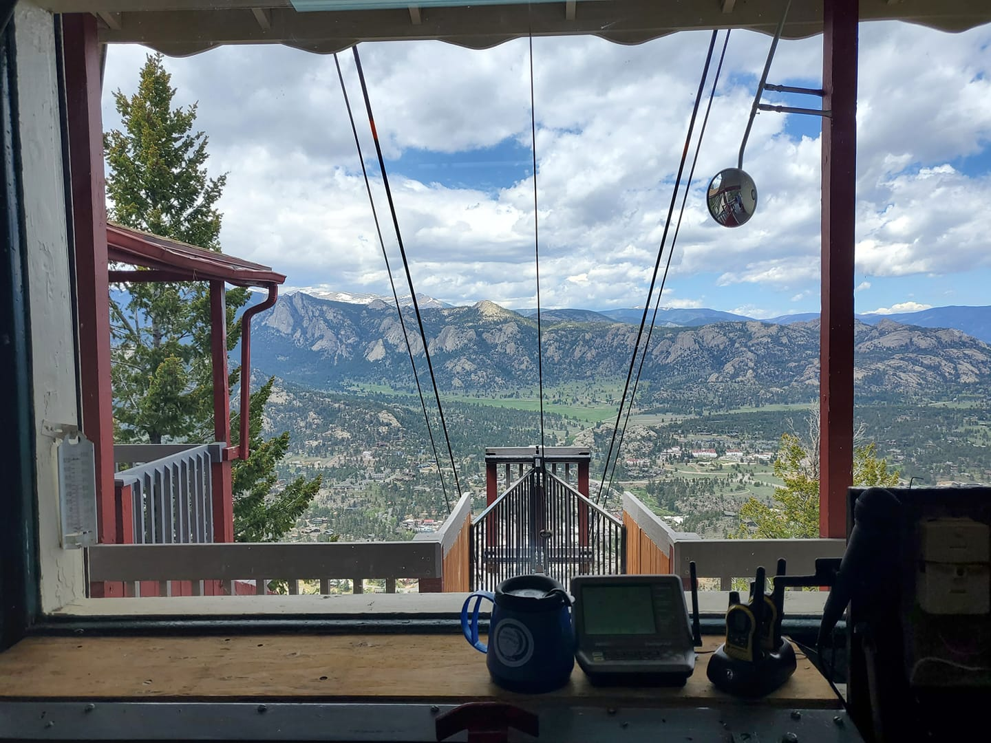 Image of the view from Estes Park Aerial Tram in Colorado