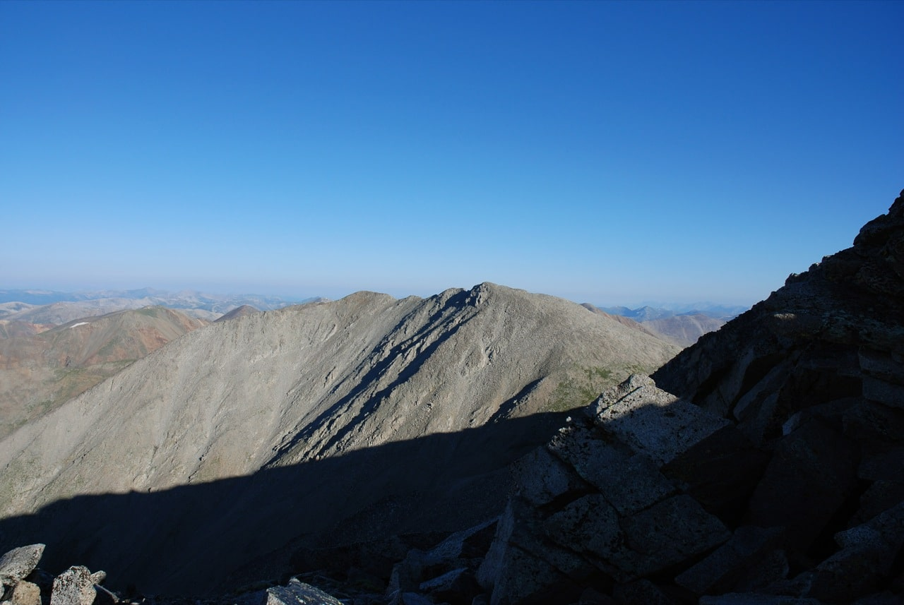 Mt Shavano Summit looking Tabeguache Peak