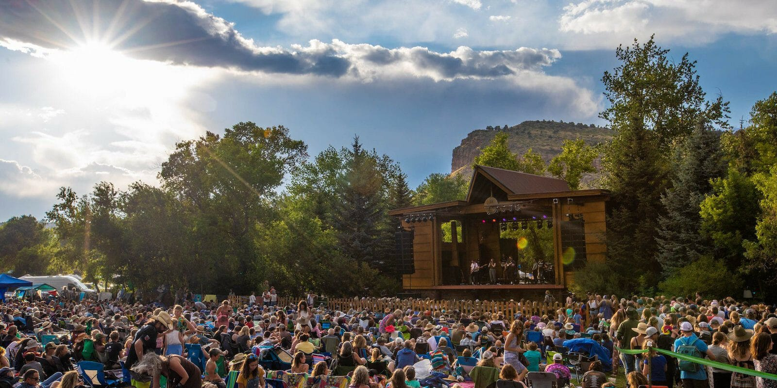 Image of the crowd at the Rocky Mountain Folks Festival in Lyons, Colorado