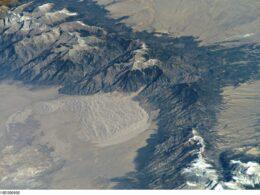 Aerial view of Sangre de Cristo Mountains Coloraod