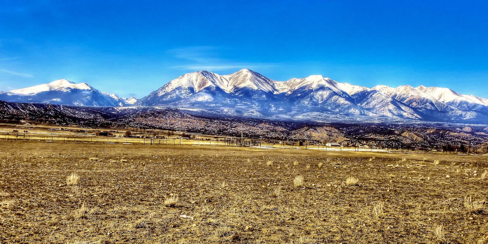 Sawatch Range Tabeguache Peak, Mount Shavano and Mount Antero