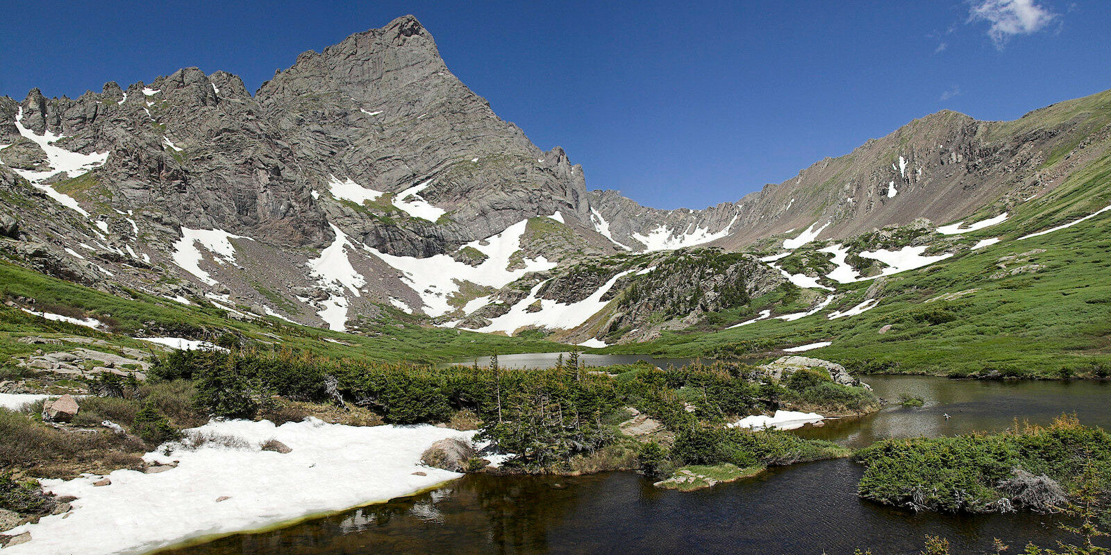 Image of the South Colony Lakes and Cresone Needle in Westcliffe, Colorado
