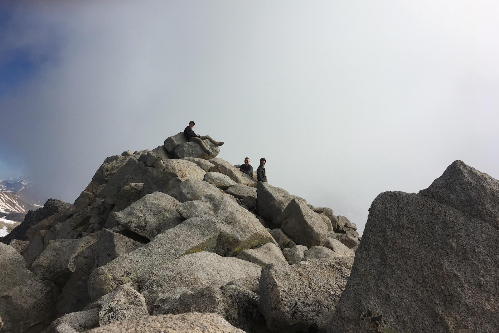 Summit of Mount Shavano Summer Hikers