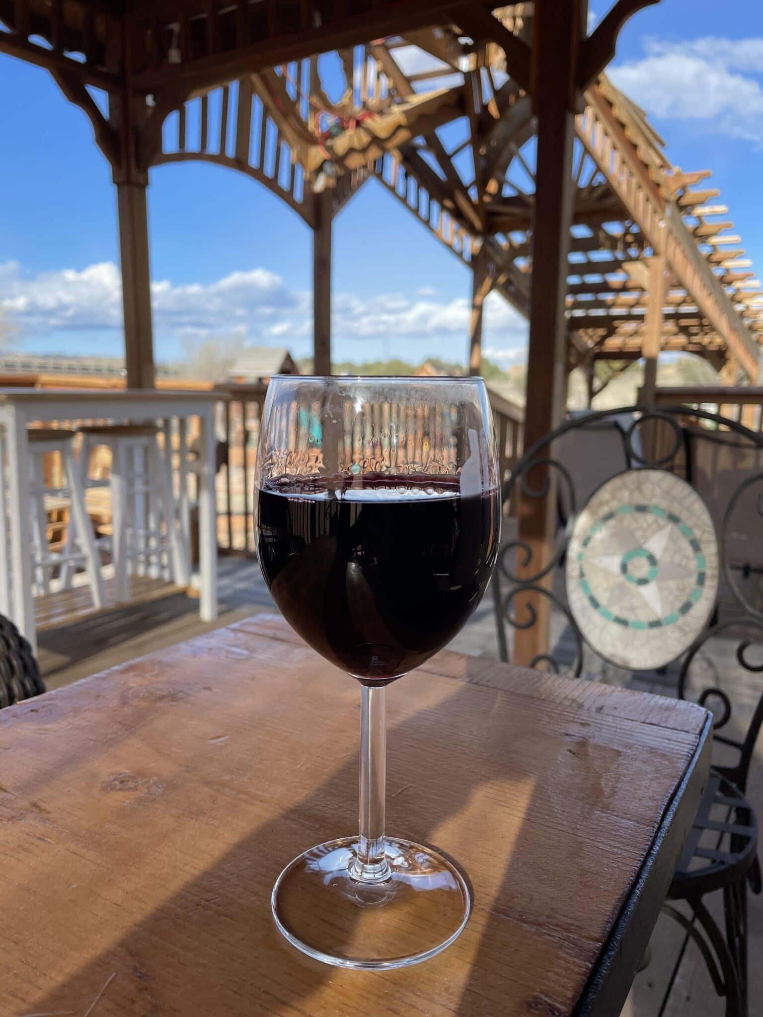 image of wine tasting at legatum cellars