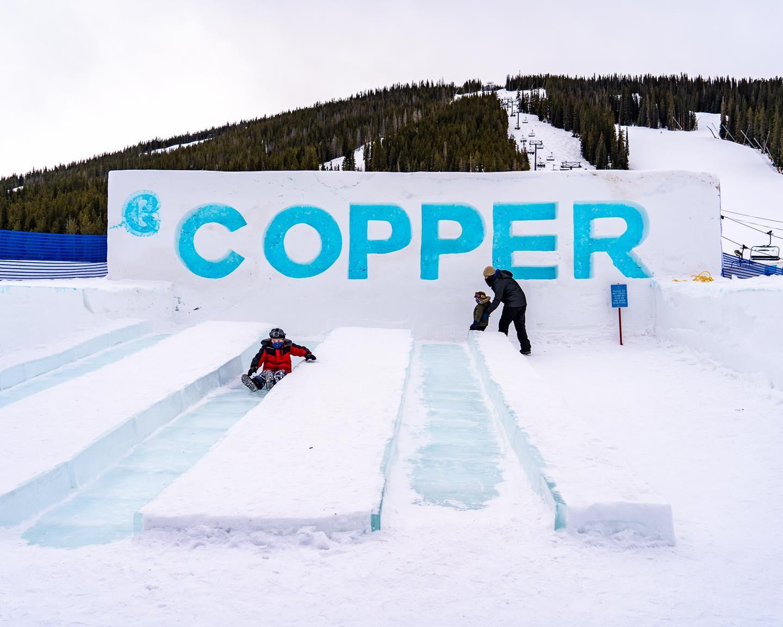 Copper Mountain Snow Slide, CO