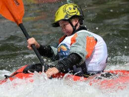 Image of a kayaker at the FIBArk Whitewater Festival in Colorado