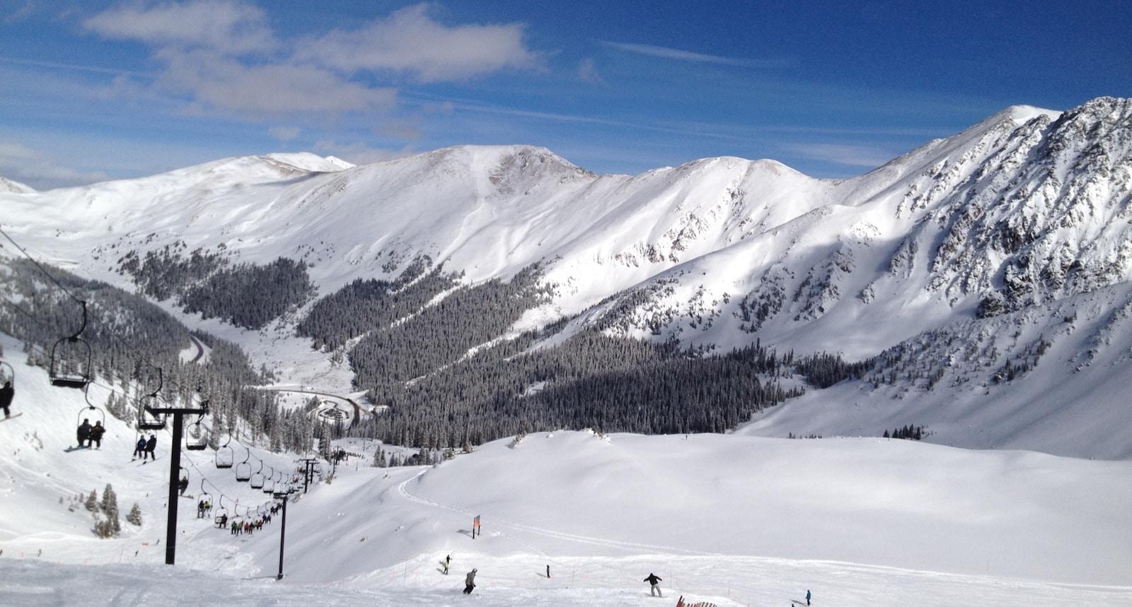 Keystone skiing, CO