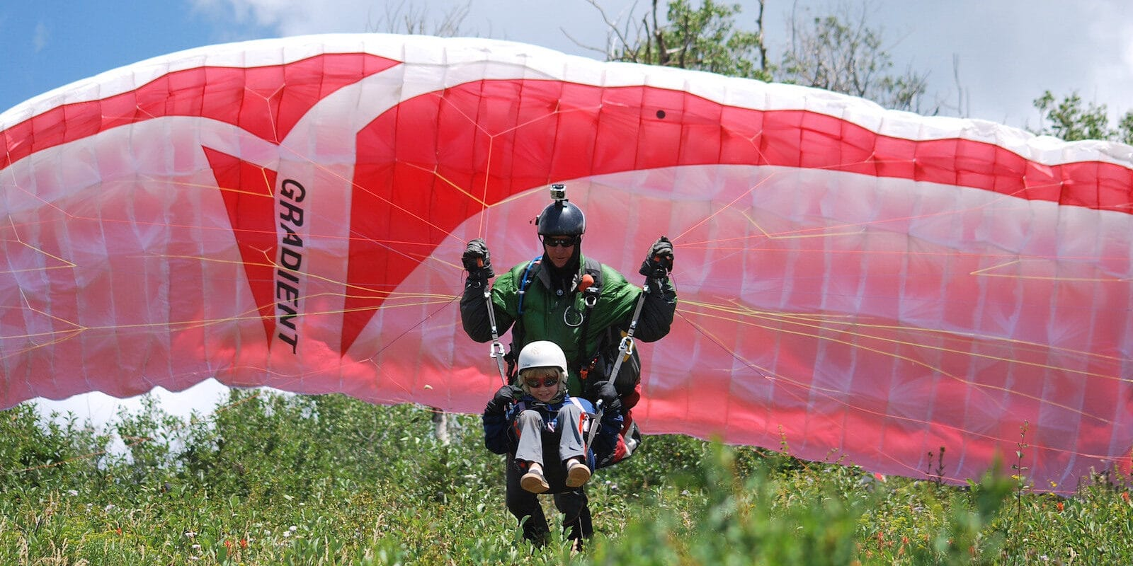 Image of a tandem paraglide with Adventure Paragliding in Glenwood Springs, Colorado