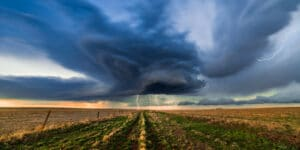 Image of a storm system in Akron, Colorado