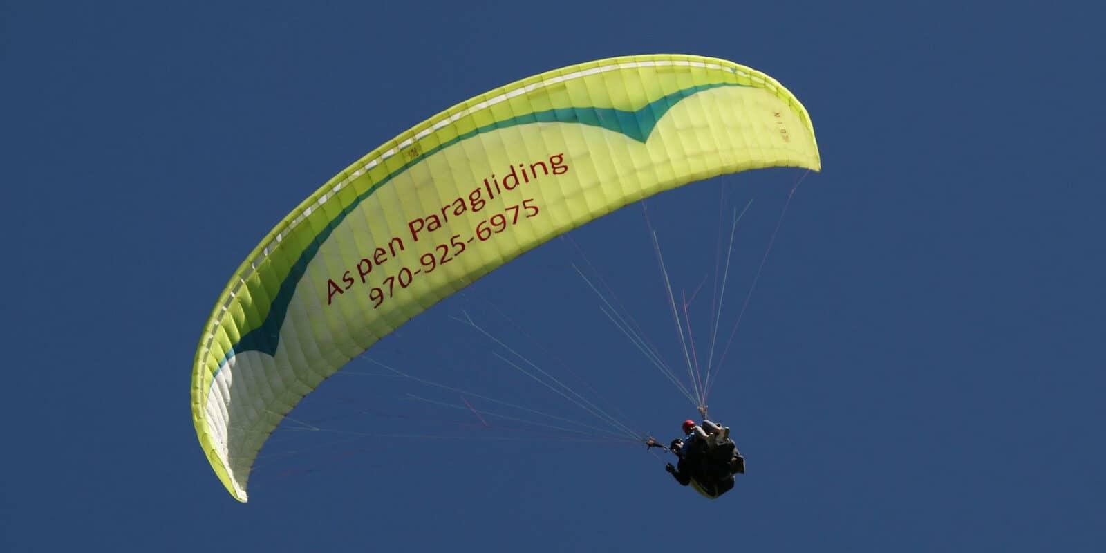 Image of the Aspen Paragliding parachute
