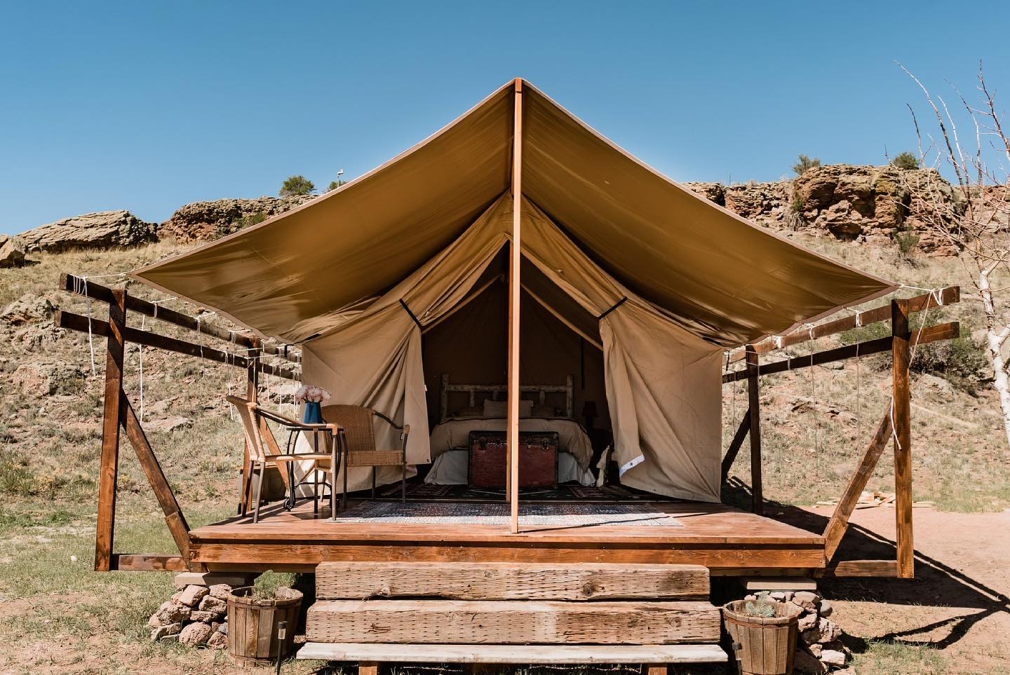 Image of the overnight accommodations at Badger Creek Ranch in Canon City, Colorado