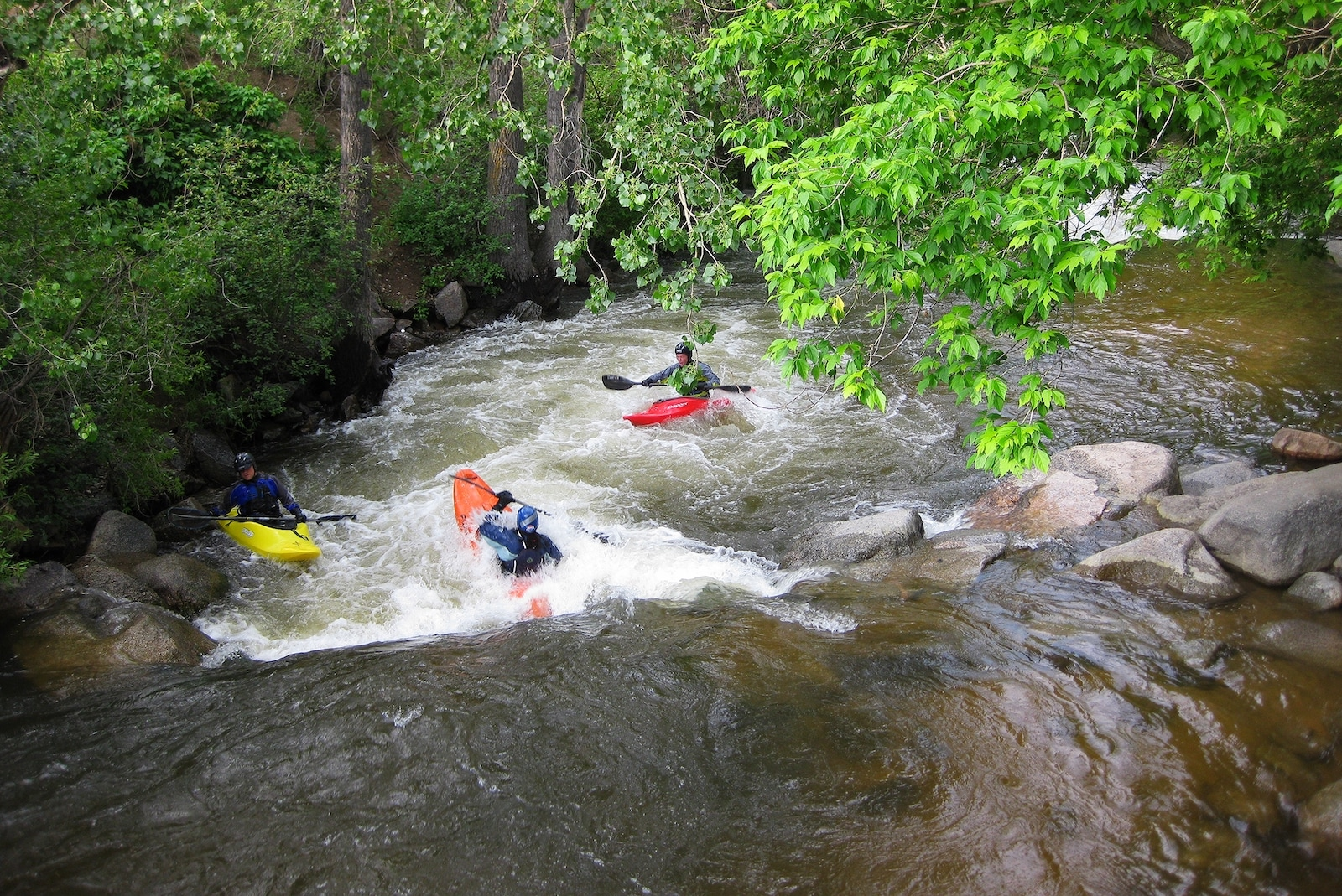 Boulder Creek Kayakers Colorado