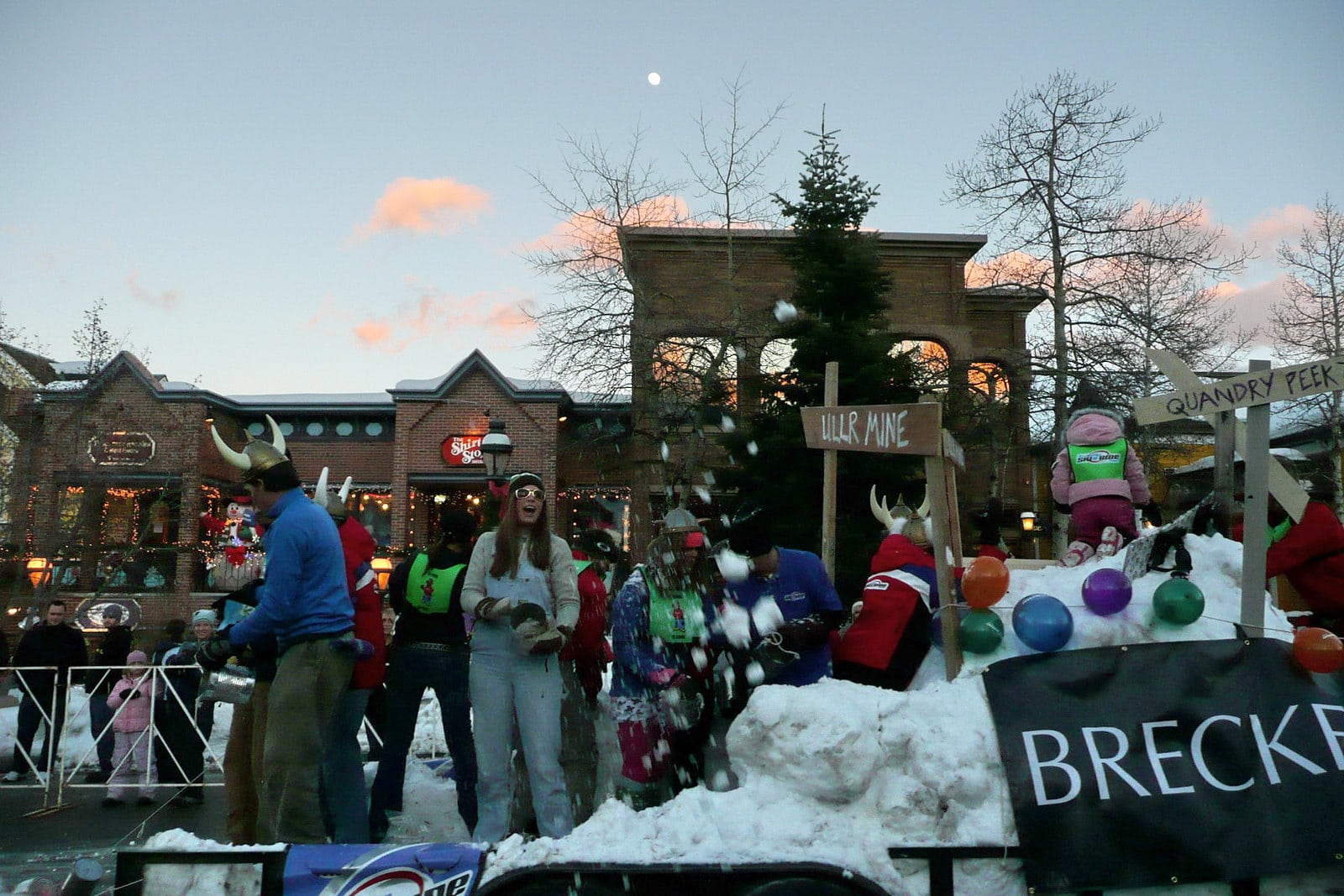 Image of the Breckenridge Ullr Festival Parade in Colorado