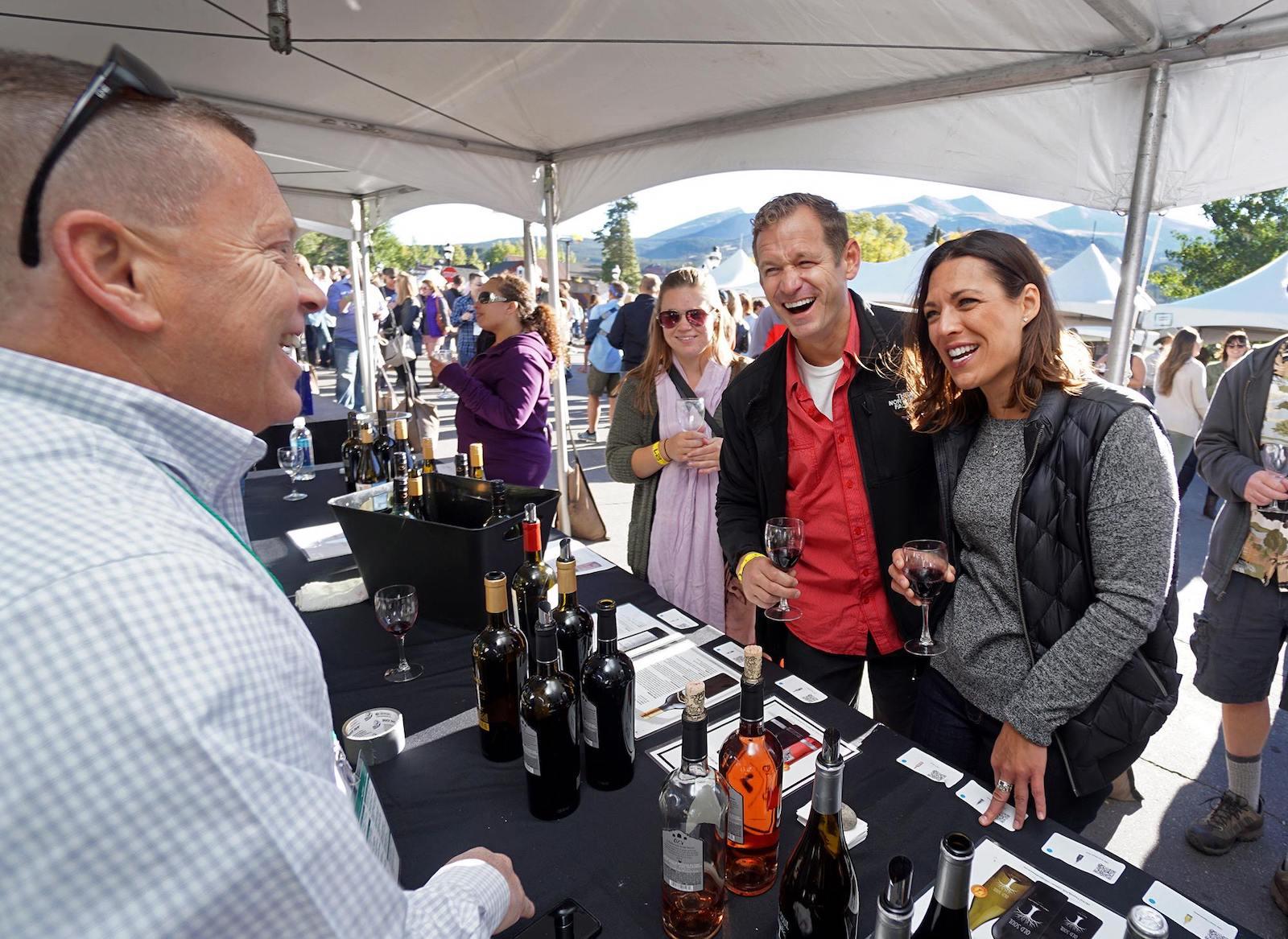 A booth at the Breckenridge Wine Classic in Colorado