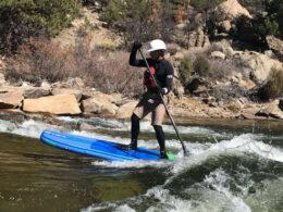 Image of a paddle boarder with Buena Vista River Park in Colorado