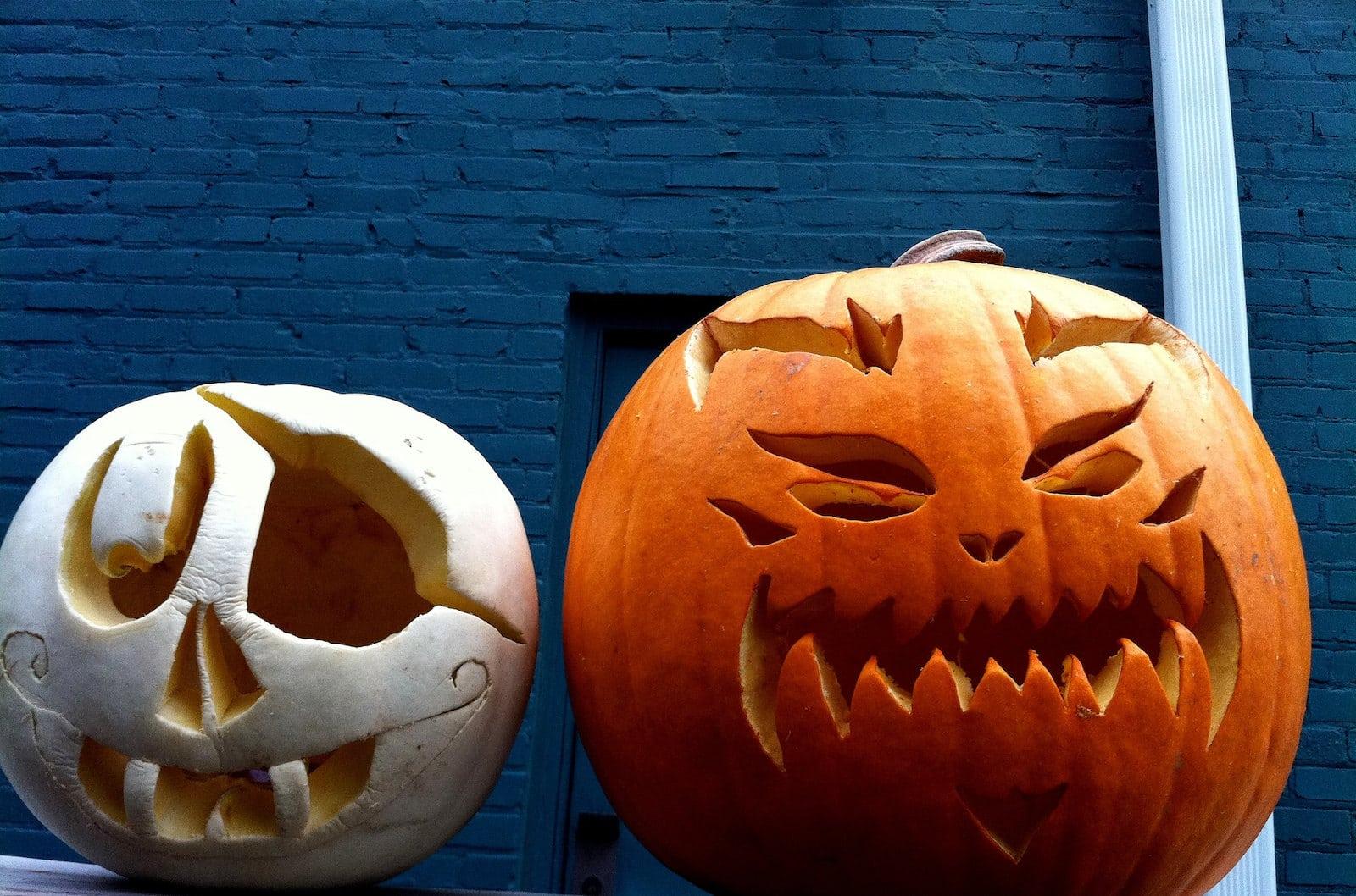 Image of carved pumpkins