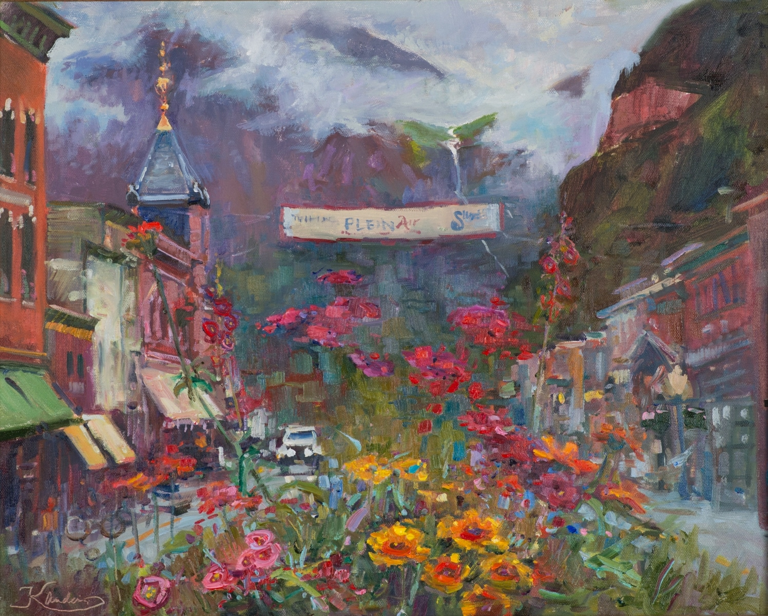 """Image of Kirsten Anderson's """"Chance of Precipitation"""" from the Telluride Plien Air Festival"""