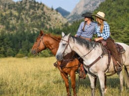 Image of two females riding horses at Cherokee Park Ranch in Livermore, CO