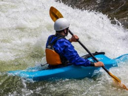 Image of a kayaker at Clear Creek in Colorado