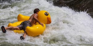 Clear Creek Whitewater Park Rubber Ducky Tuber