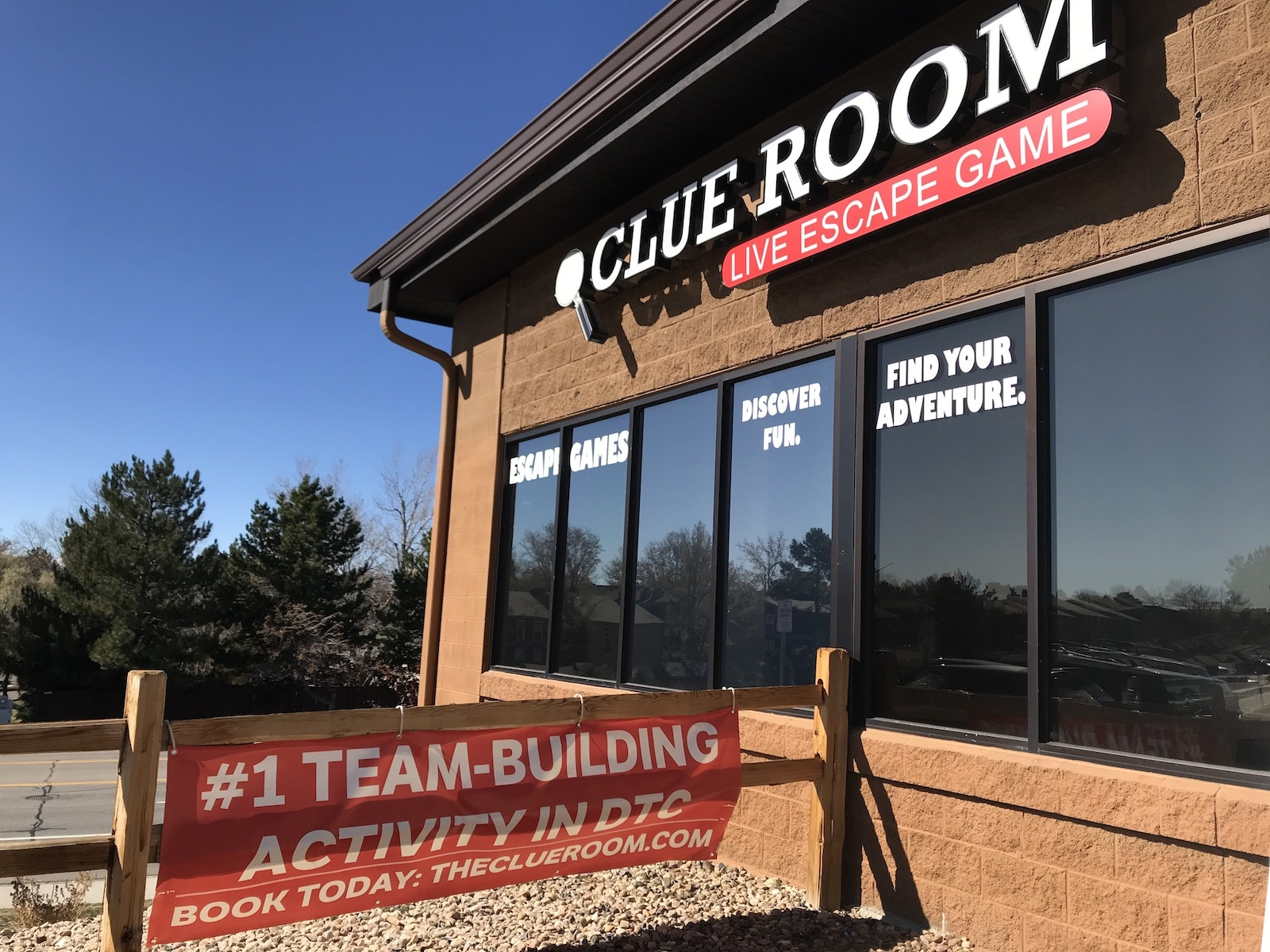 Image of the outside of The Clue Room in Centennial, Colorado