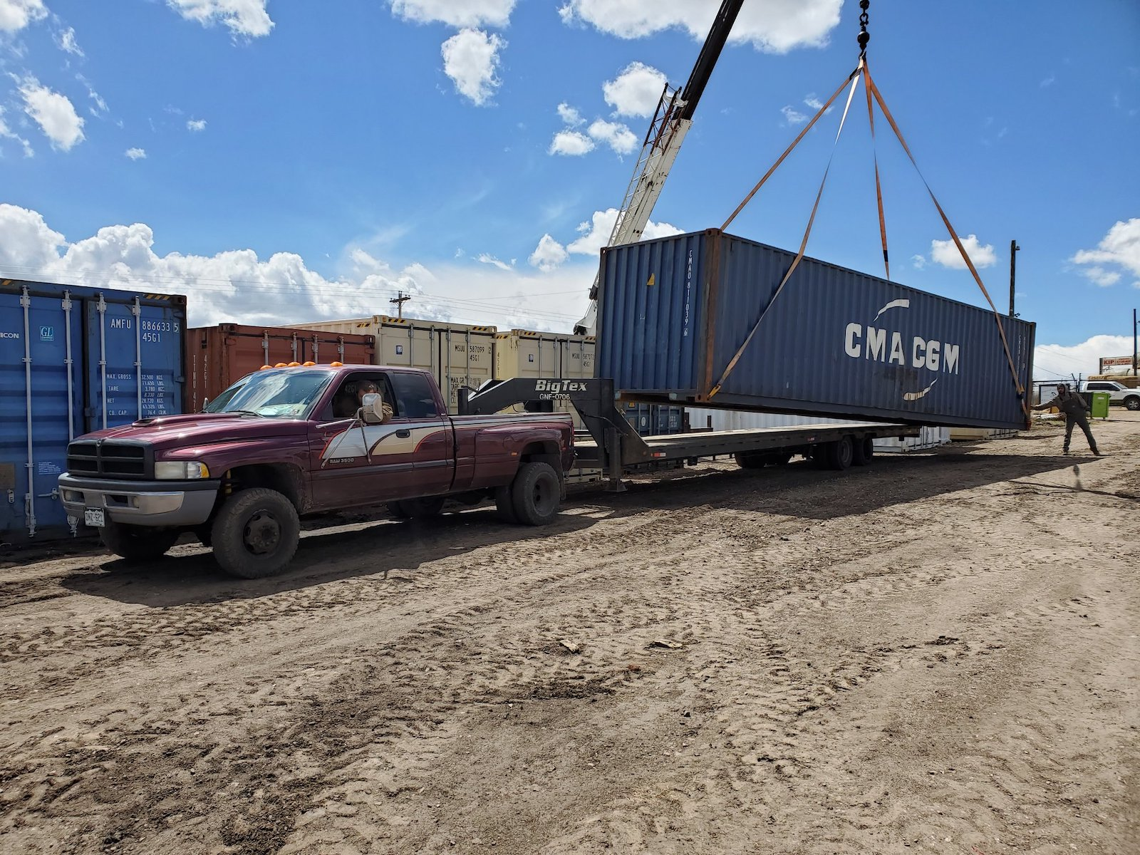 Image of a shipping container being loaded onto a truck