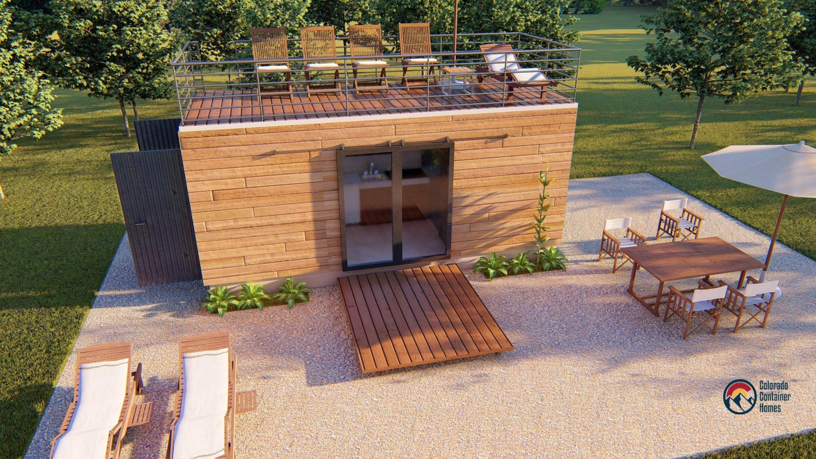 Image of a Colorado Container Home rendering