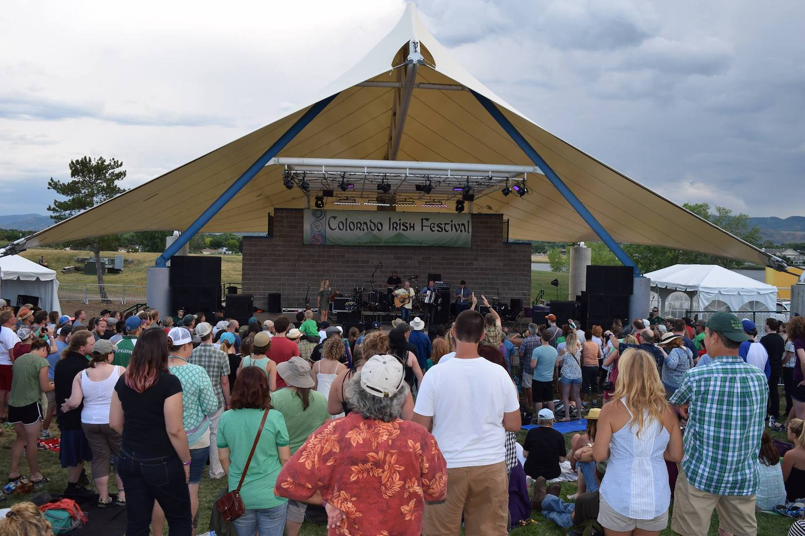Image of the crowd at the Colorado Irish Festival in Littleton, CO