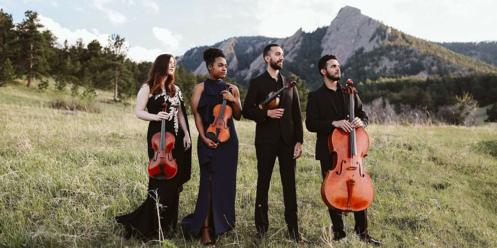 Image of the Ivalas Quartet playing at the Colorado Music Festival in Boulder