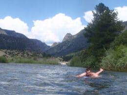 Image of a person floating down the Colorado River