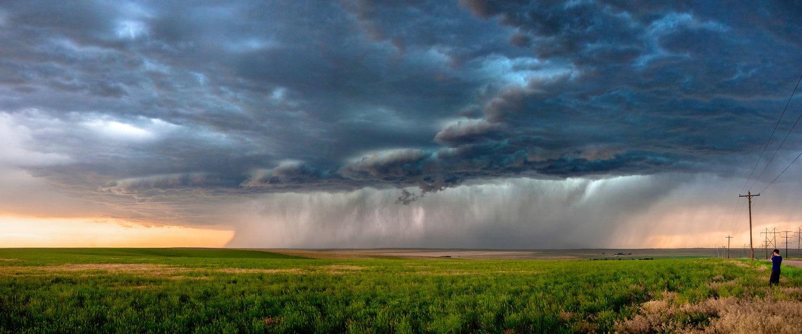 Gambar sistem badai di Colorado