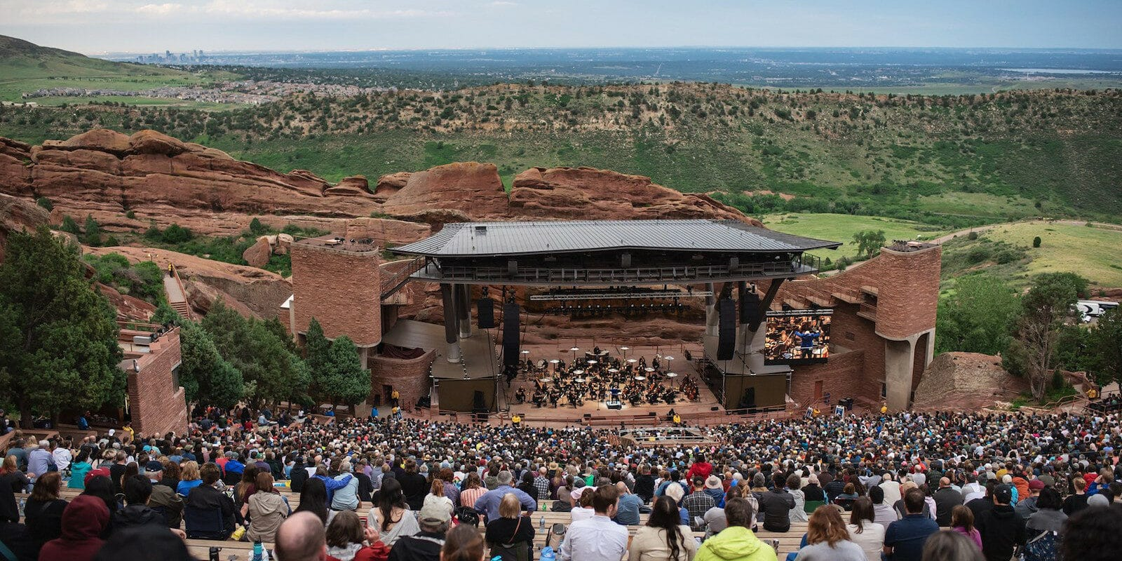 Image of the Red Rock Amphitheatre in Morrison, CO