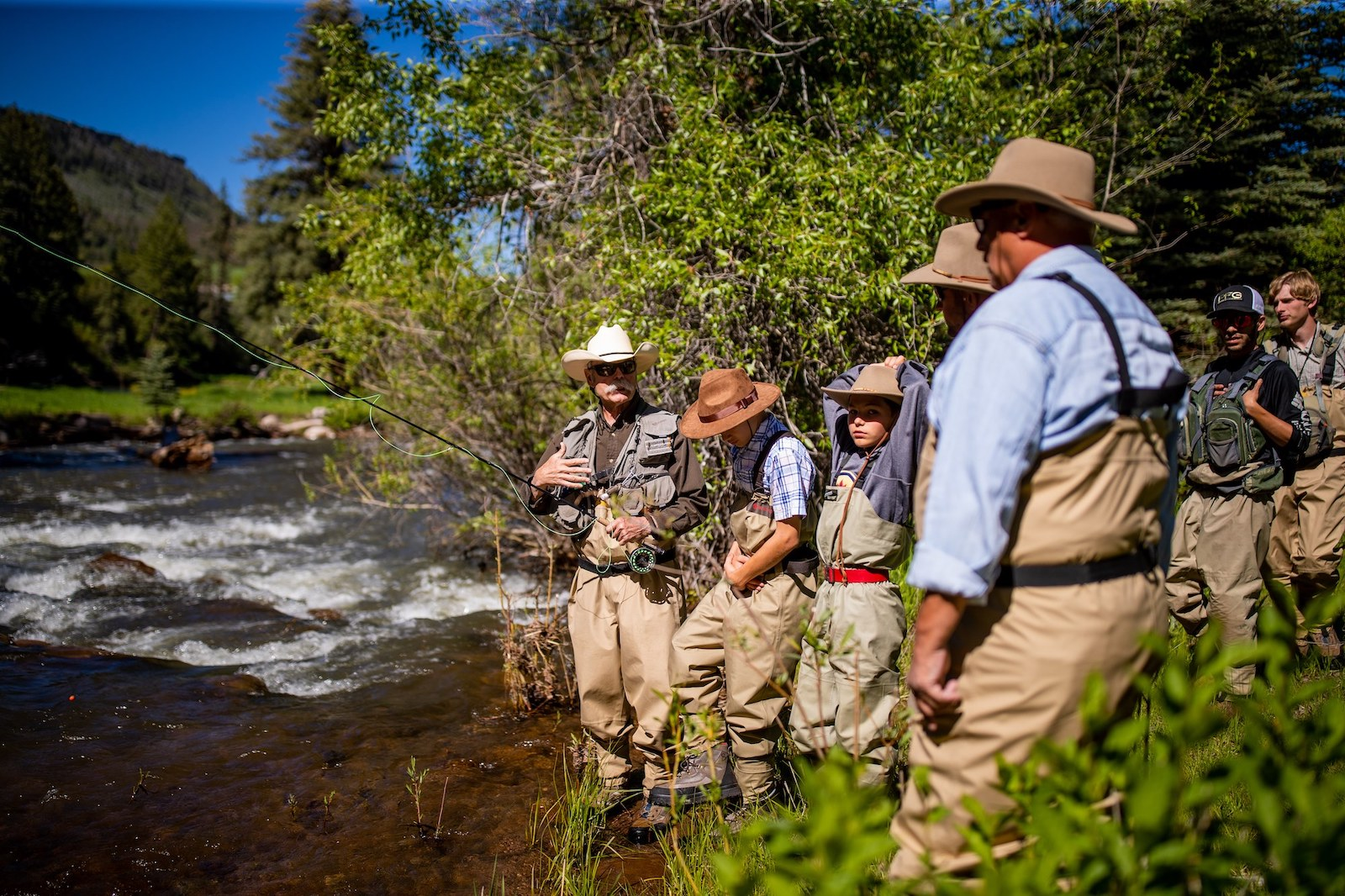 Image of people fly fishing at Colorado Trails Ranch in Durango