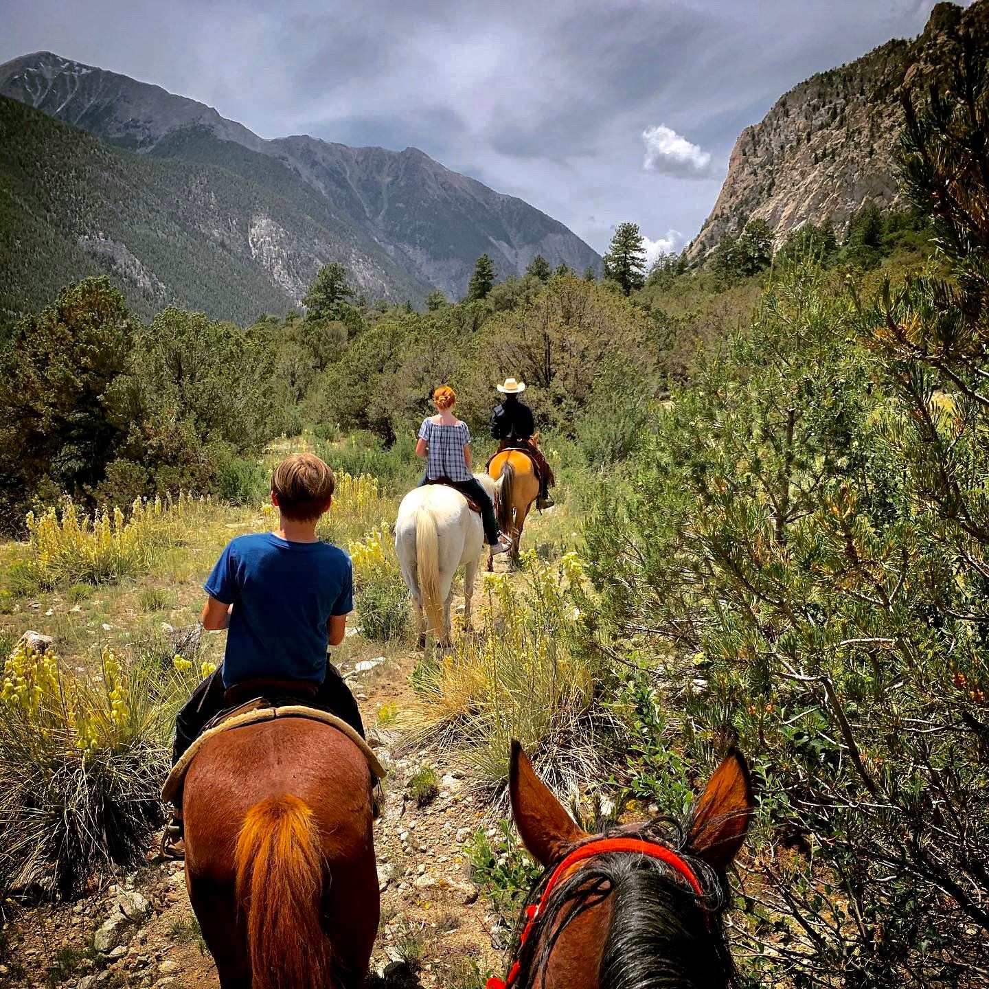 Image of the people horseback riding at Deer Valley Ranch in Colorado
