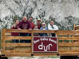 Image of people on a wagon at the Deer Valley Ranch