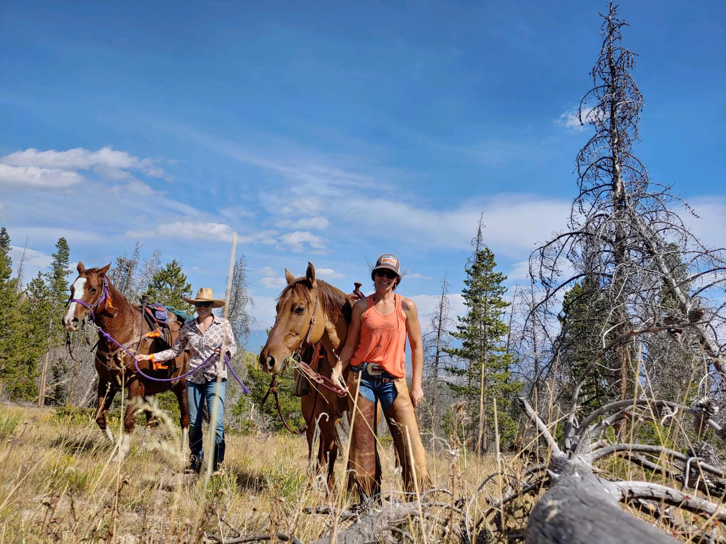 Image of cowgirls at the Drowsy Water Dude Ranch in Granby, Colorado