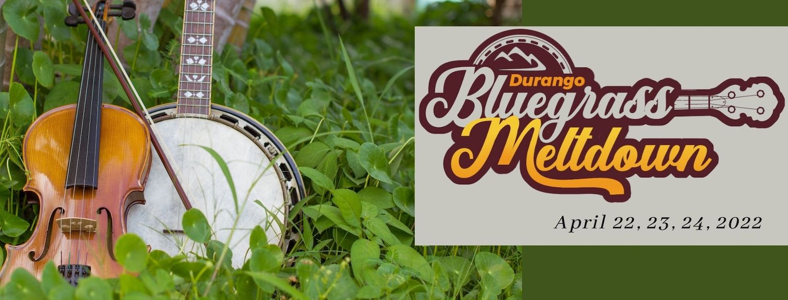 Image of the Durango Bluegrass Meltdown flyer in Colorado